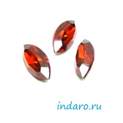 Swarovski Navette 4228, 15*7мм, цвет  Red Magma